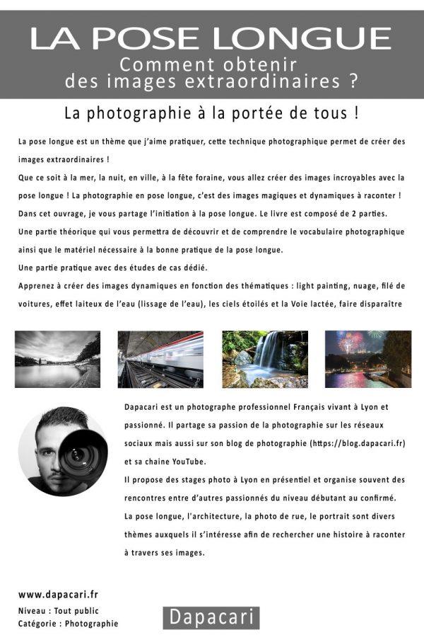 livre sur apprendre la pose longue en photographie